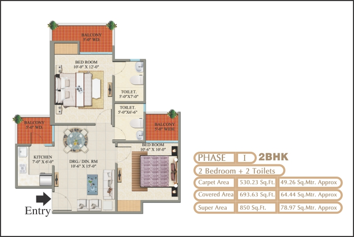 2 BHK & 3 BHK Flat for Sale in Raj nagar Extension